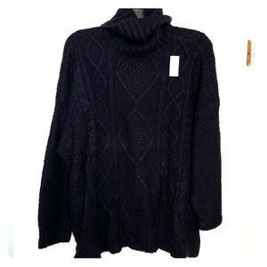 Aerie navy turtleneck sweater